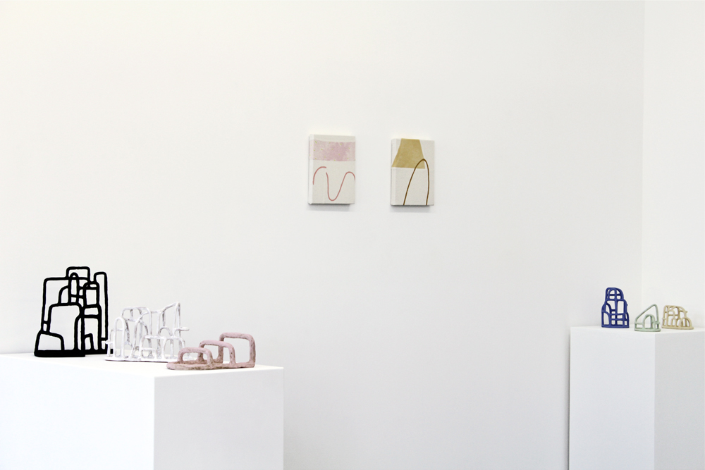 Sculptures by Amanda Leigh Evans & paintings by Anastasia Greer, on view through August 28, 2016