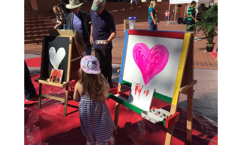 Larry Yes's Art in the Park Project, a painting area free for all 11-4 both days