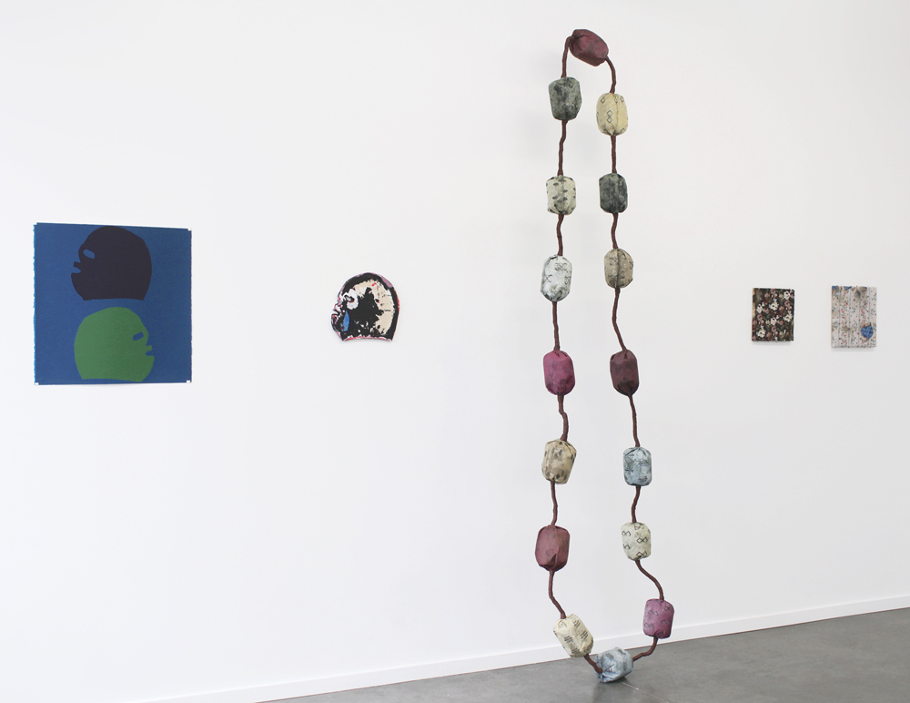 Shown here, works by Victor Maldonado, Bukola Koiki, and Angelica Millán