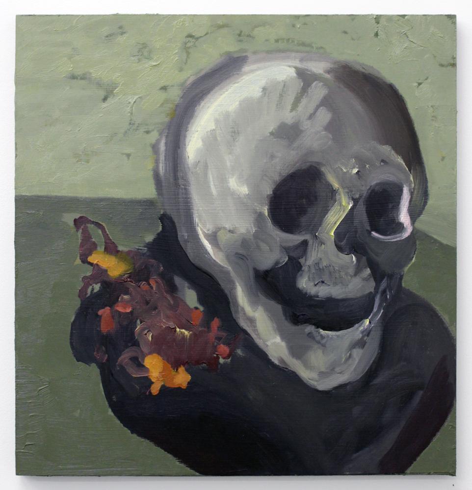 Light Skull with Mimosa