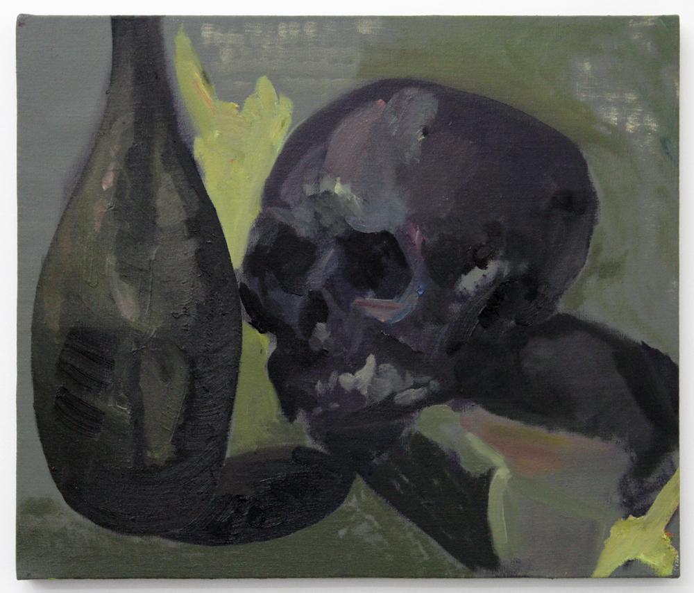 Dark Skull and Bottle