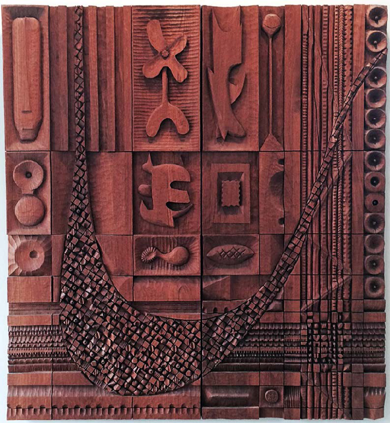 Leroy Setziol,  Untitled , 1991, teak, Collection of Carole Smith and Eric Kittleson.