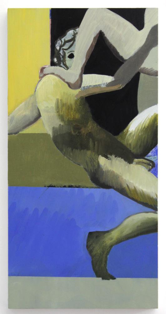 """John , 2017, oil on panel, 24 x 12"""""""