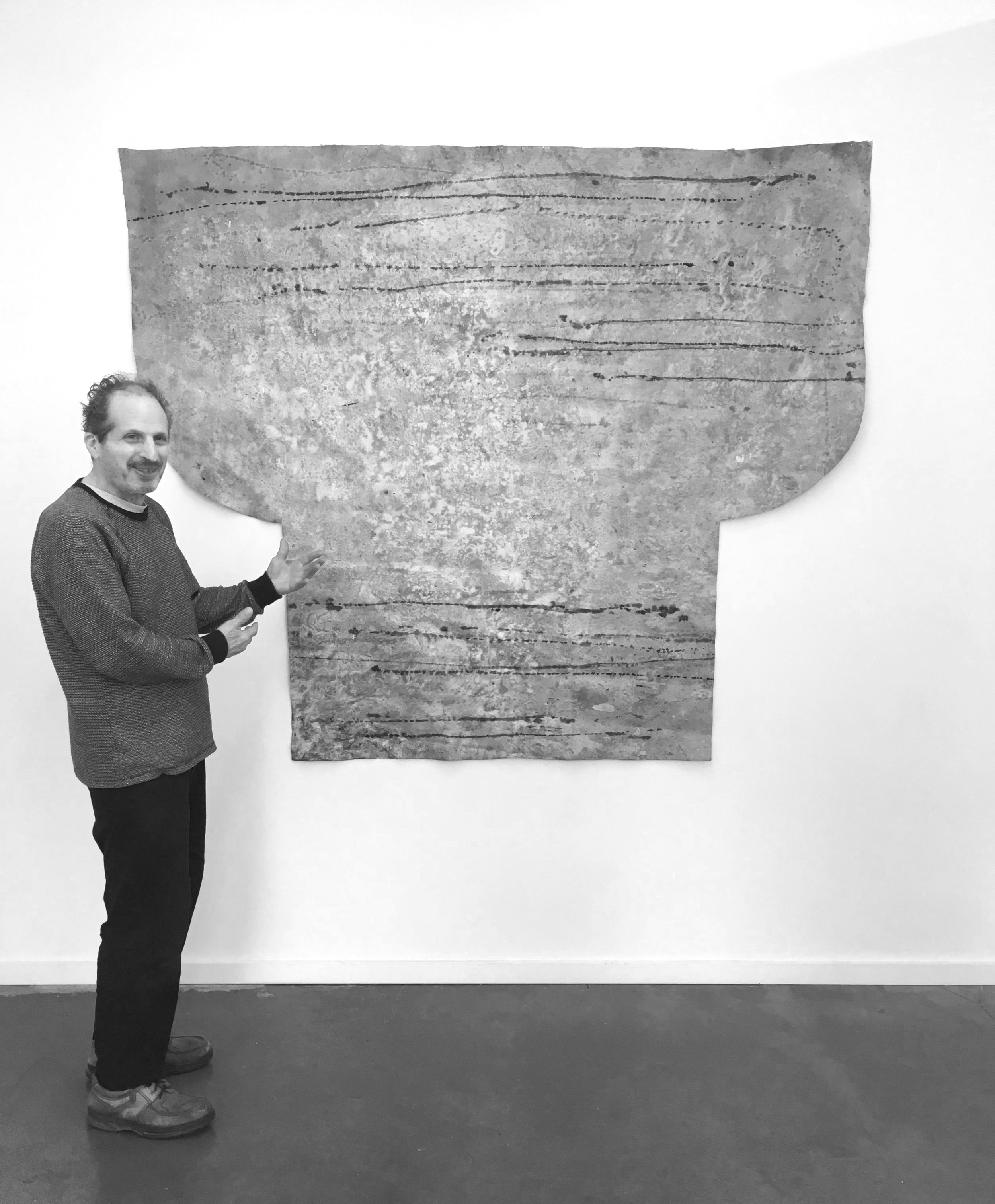 John Petrucelli with the largest piece in his pop-up,  A kid from Chicago.
