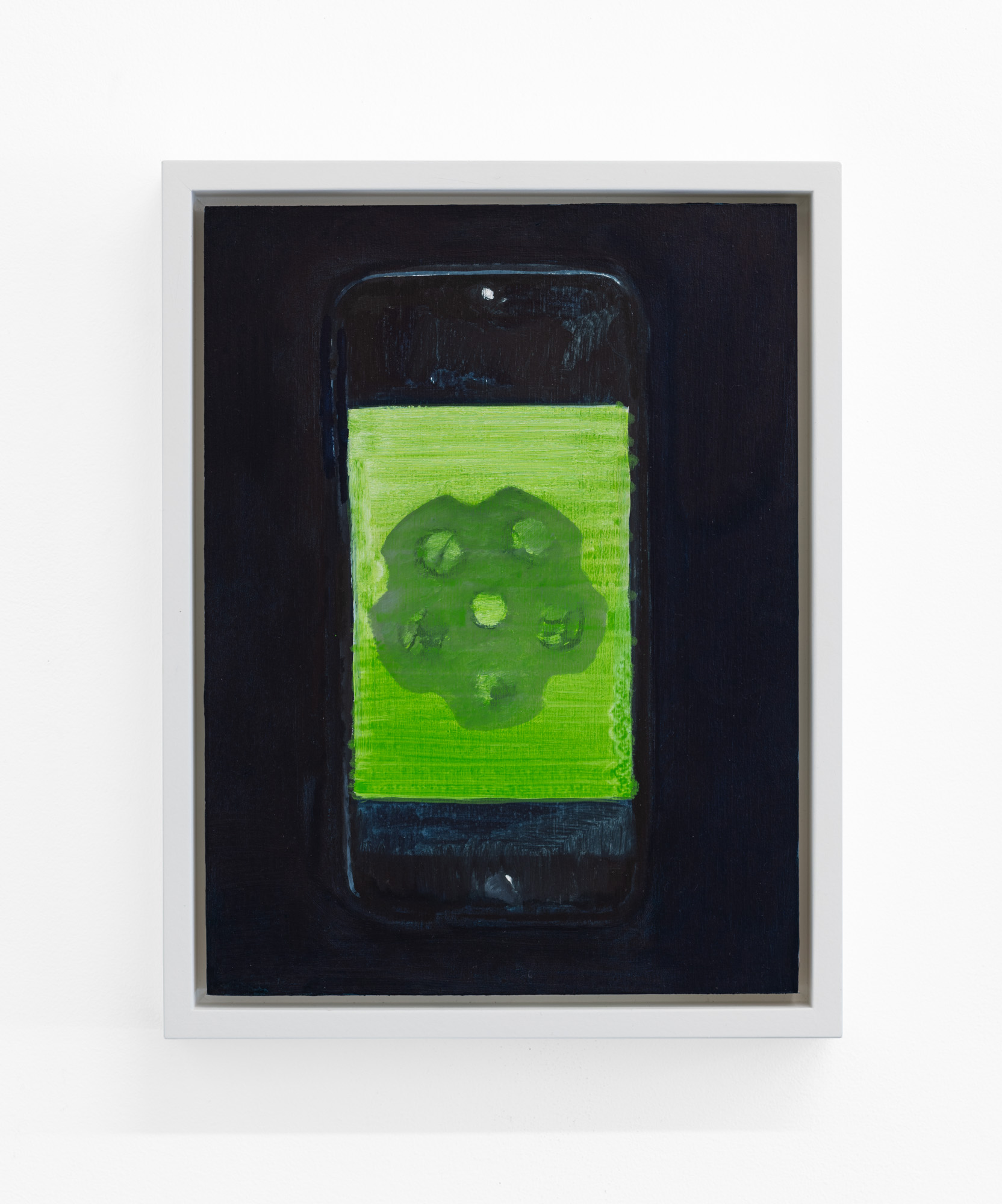 Phone (Fentanyl) , 2019, oil on panel, 12 x 9 inches