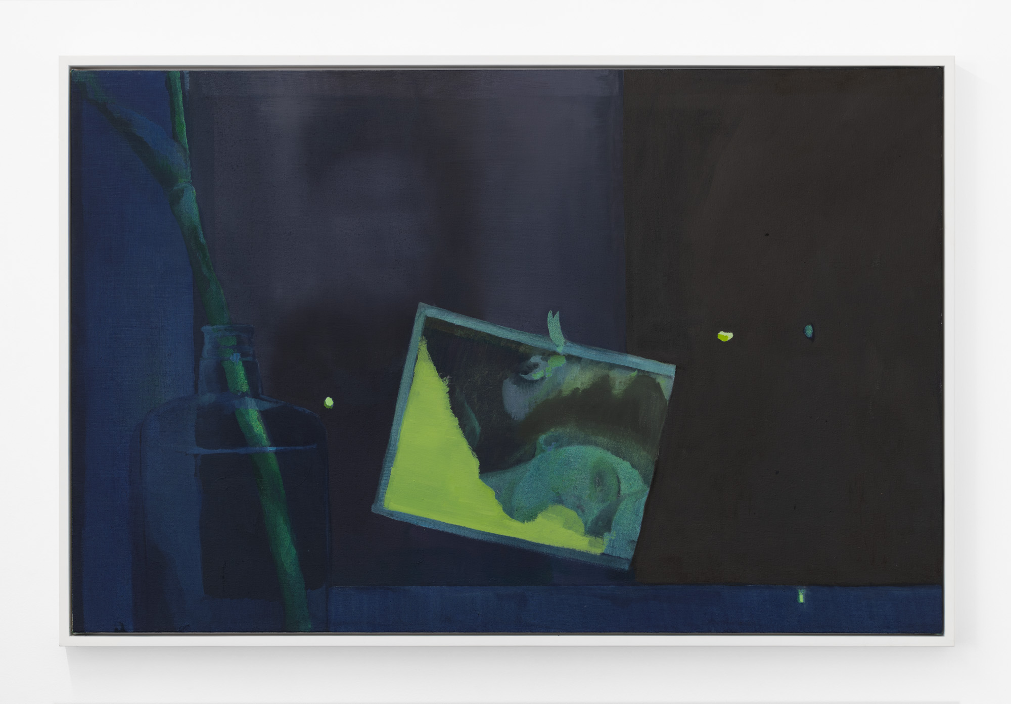 Night Window with Ghosts , 2019, oil on canvas, 26 x 40 inches