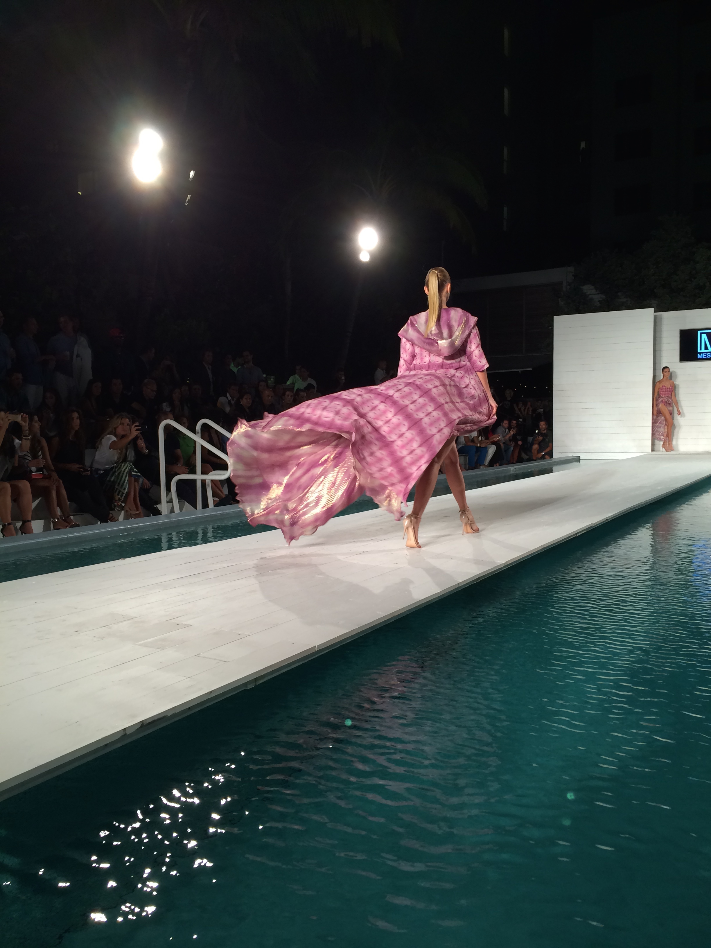 Alessandra Meskita's Fashion Designs using my artwork for MBFW 2014 in Miami.