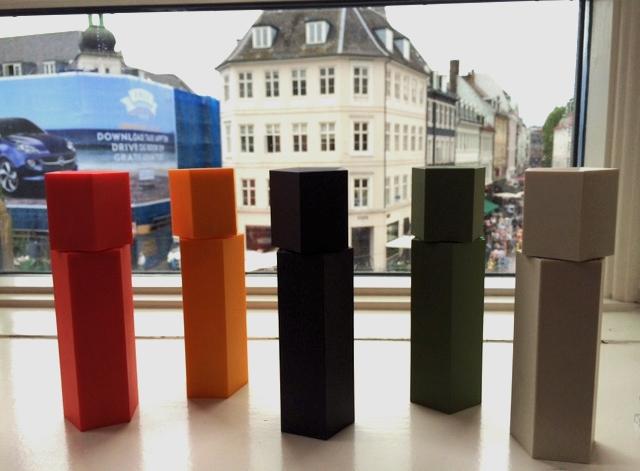 Pepper grinders guarding Copenhagen.