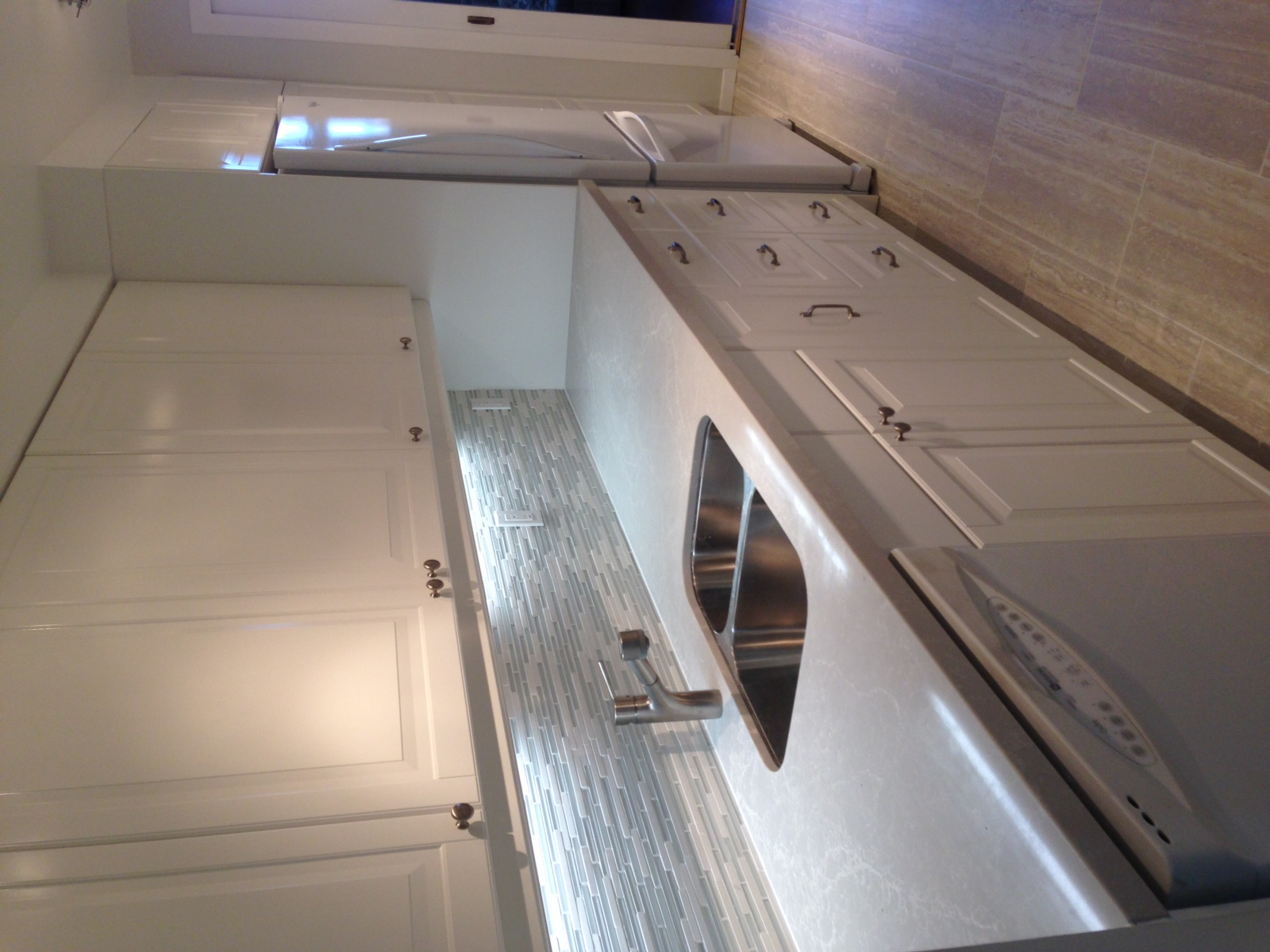 cabinets by Ikea/ tile by Saltillo Imports/ Caeserstone countertops by York Fabrica