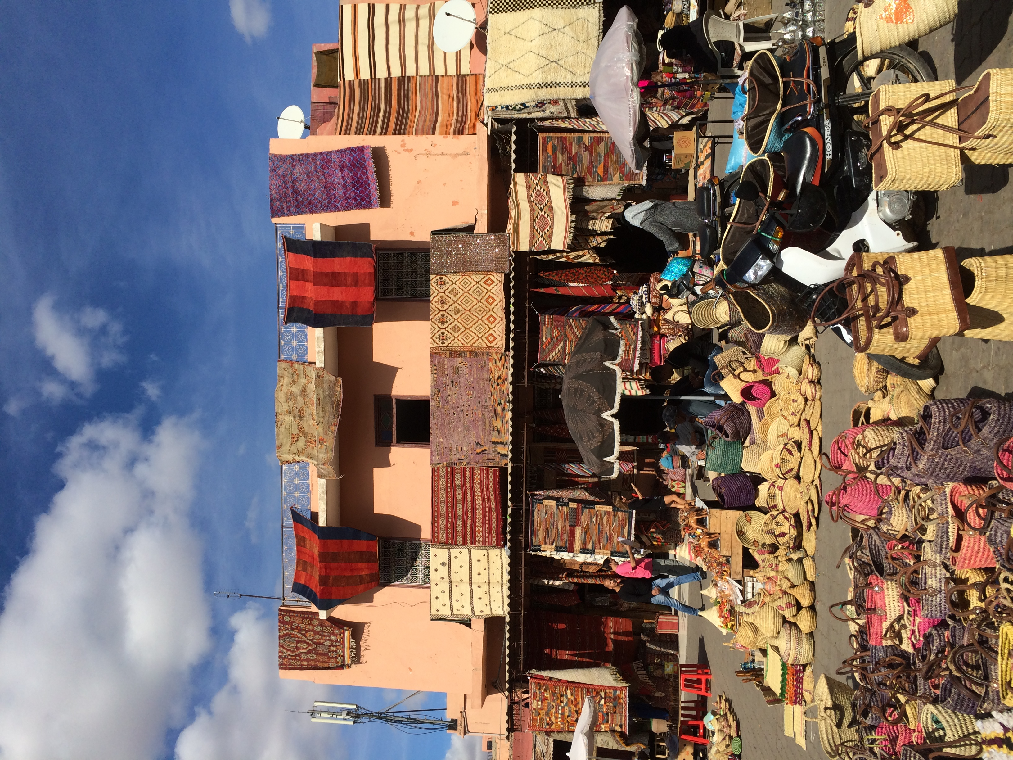 A small square in the Medina of Marrakech