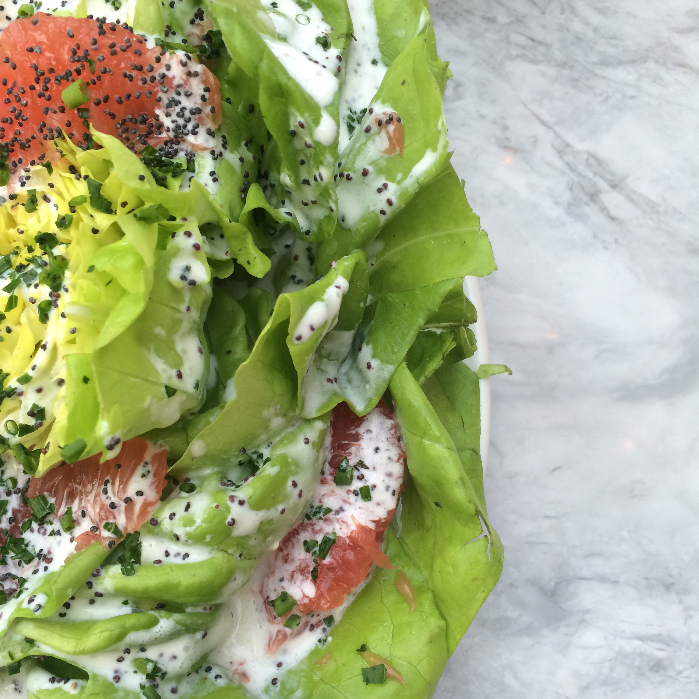 butter lettuce and grapefruit salad.   photo cred: Quinn Tabbitt