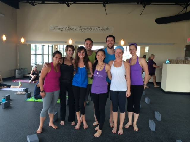 This is a picture of me and my friends from Lululemon Athletica at the Hot Asana Studio! Note: this was BEFORE class. You don't want to see how we looked after ;)