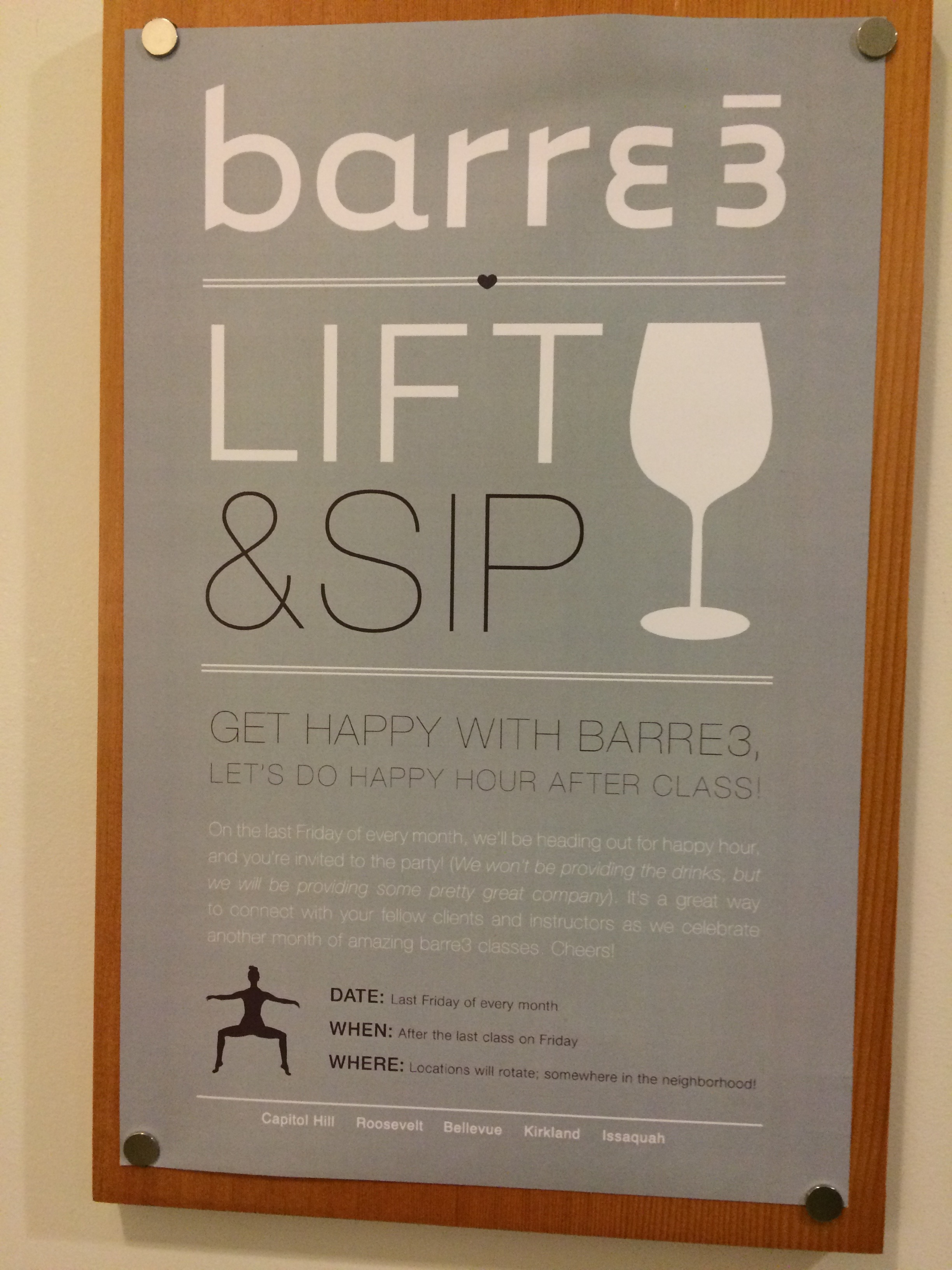 Special event at Barre3 and a great idea!