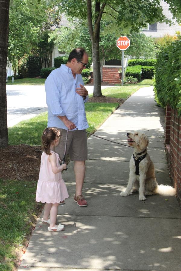 Talia, Alex's dad (Papa C) and Indy