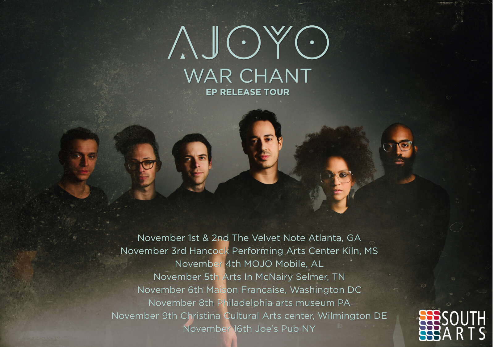 This tour is made possible with the support of Jazz Road, a national initiative of South Arts, which is funded by the Doris Duke Charitable Foundation with additional support from The Andrew W. Mellon Foundation.