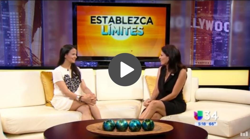 Para ver la entrevista de Univisión y escucharnos hablando sobre cómo poner límites, haz clic   aquí  .