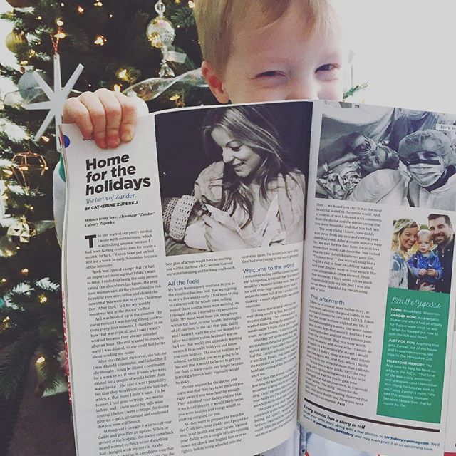 Aw... this guy's birth story was featured in Pregnancy and Newborn magazine - the November 2017 issue! My friend told me she saw us in a magazine and I was so confused... baby brain has taken over because I forgot they reached out to me and asked if they could feature it, if they chose his story out of others. I said yes and completely forgot. Fast forward to my OBGYN appointment and I saw the old issue and asked the receptionist if I took take them all - since it was the November issue. And she said of course! Lol! I guess our 15 mins of fame passed us up, but still going in his baby book! 🙌👶🏻