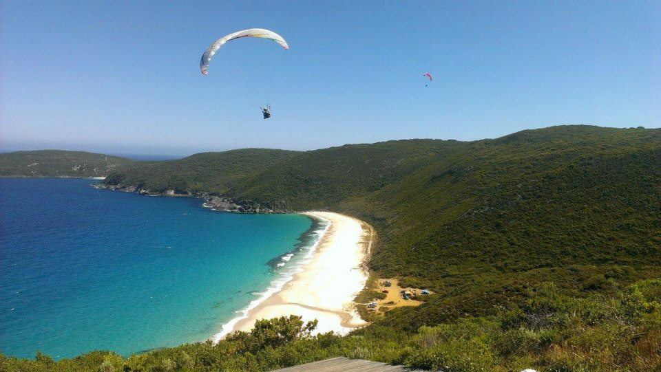 Paragliding in Albany stay at HideAway Haven
