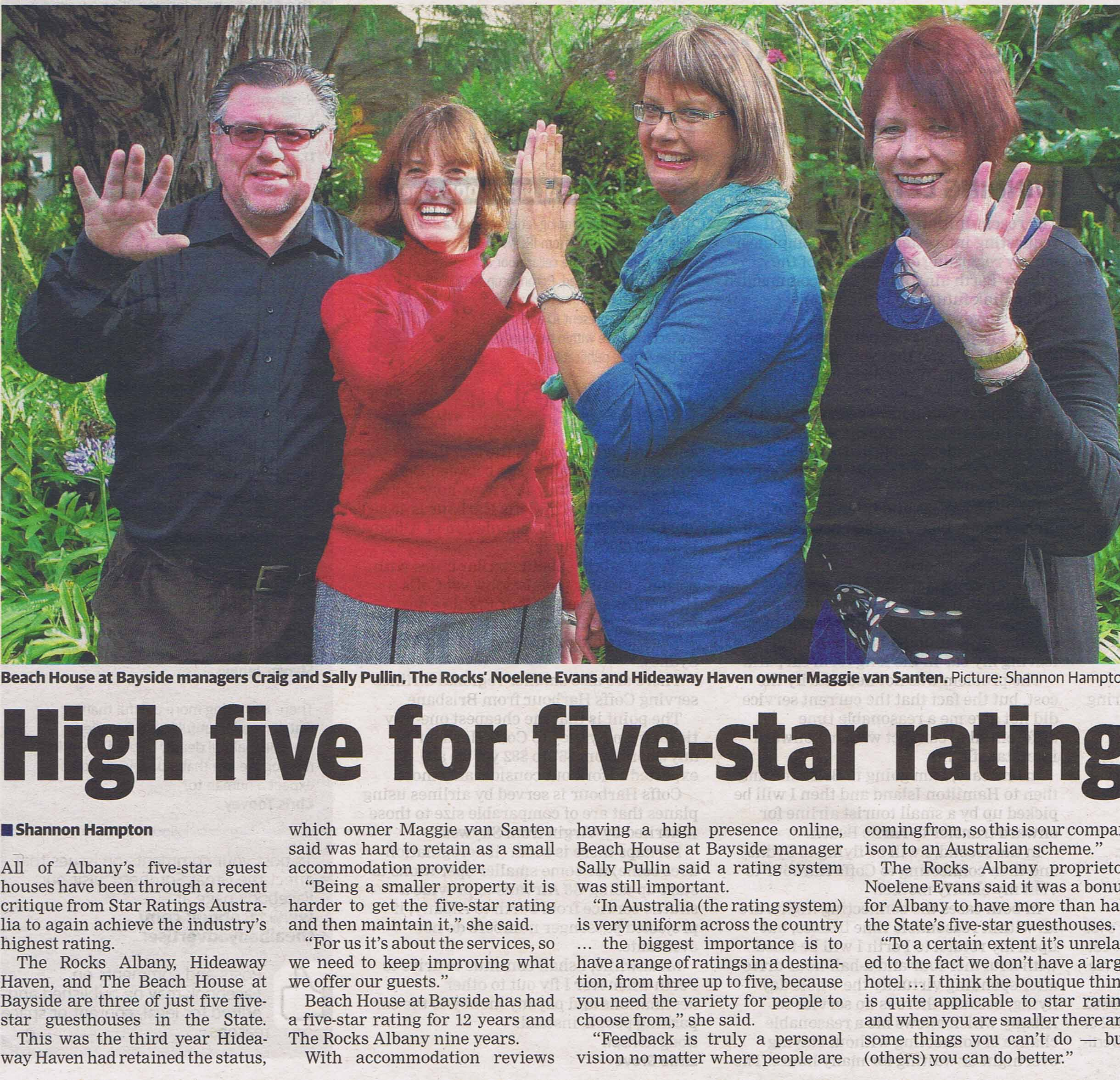 Hi Five for Five Stars