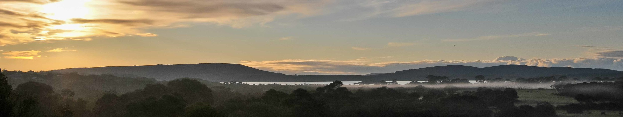 Sunrise at HideAway Haven in Albany Western Australia, Luxury Accommodation