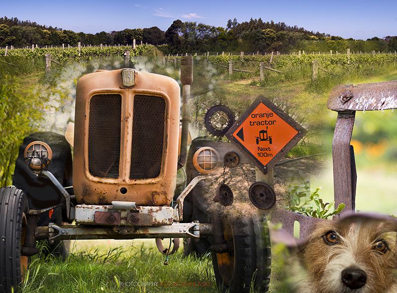 Oranje Tractor for HideAway Haven guests