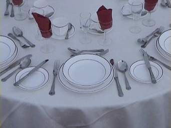 Table setting at HideAway Haven
