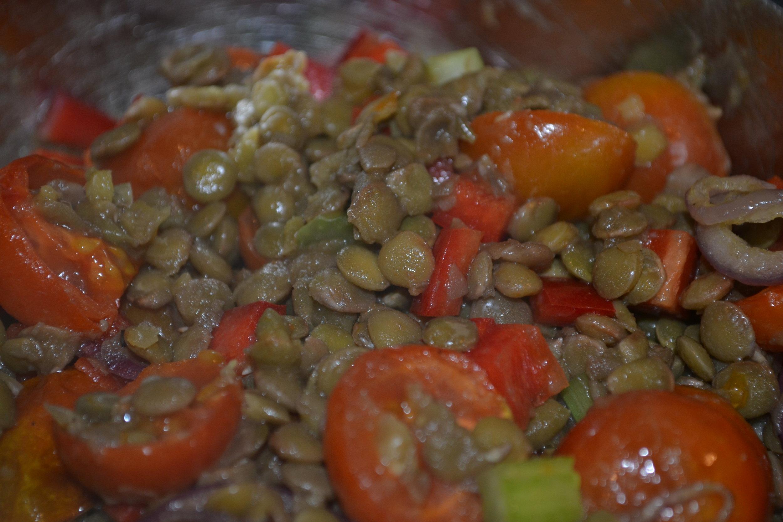 Green Lentil Salad Healthy Food for HideAway Haven Hostesses