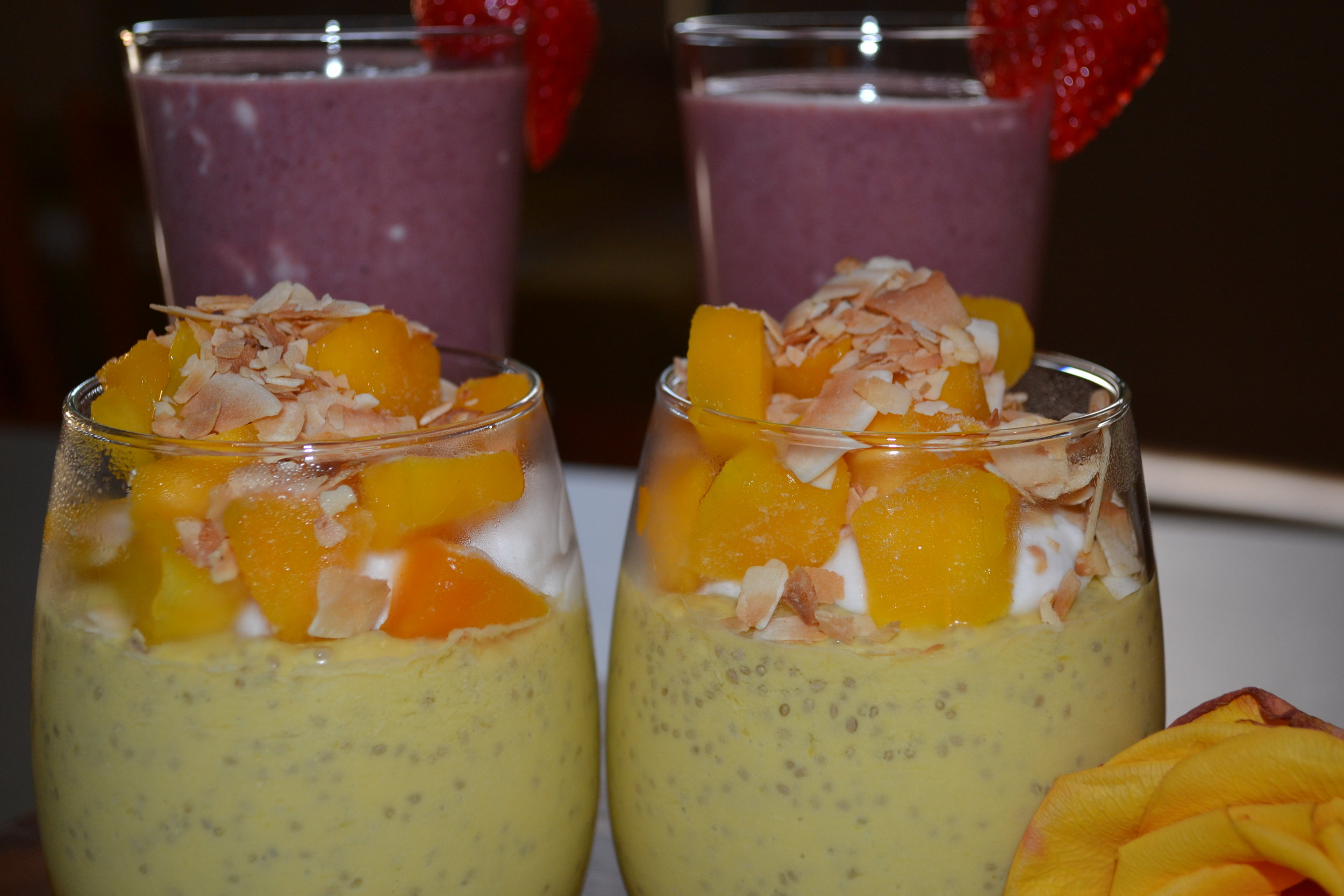 Mango Chia RAW Breakfast at HideAway Haven