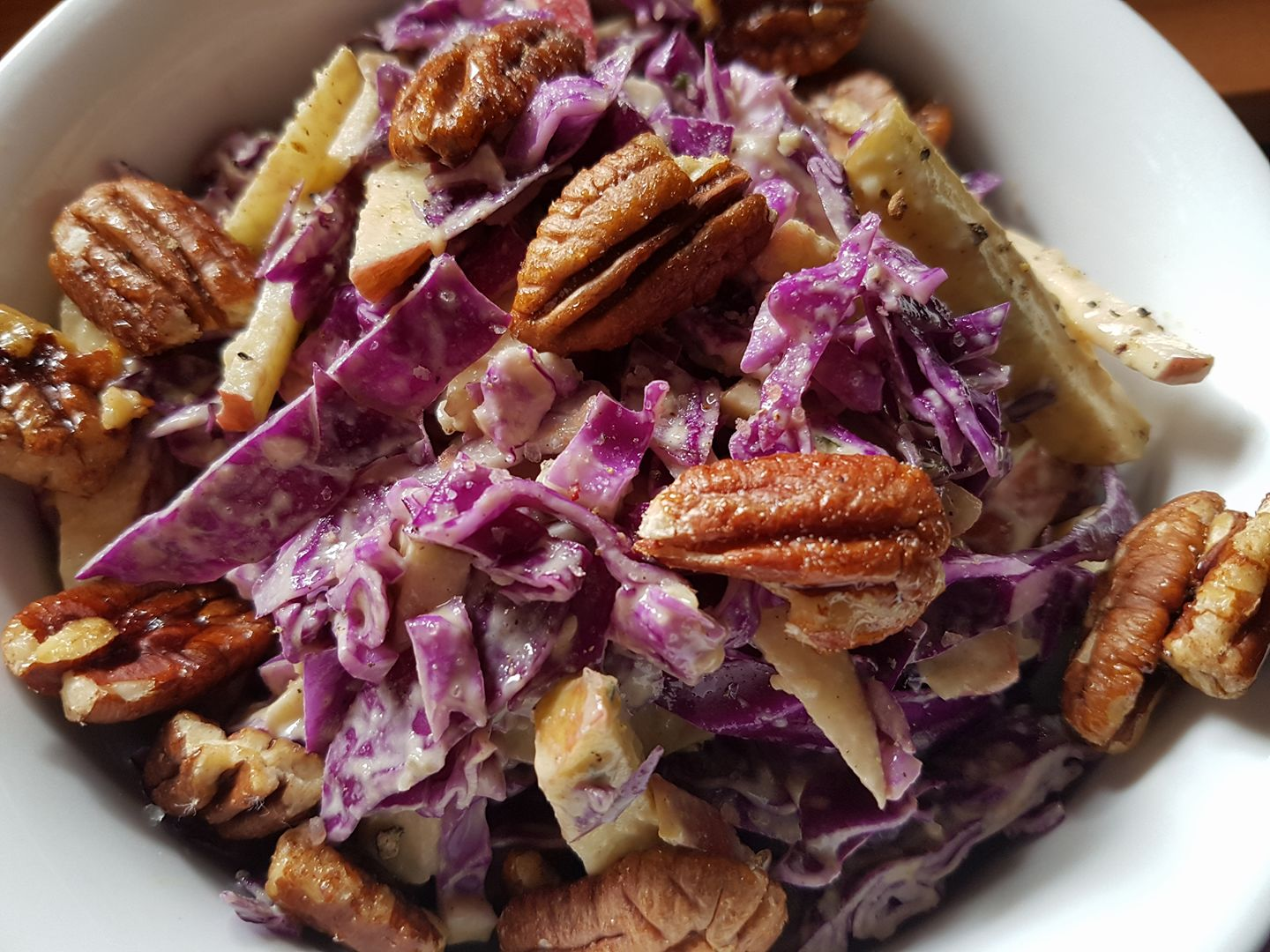 Apple and Red Cabbage Slaw