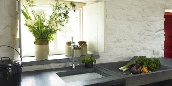 Kitchen door opens onto the gardens and countryside beyond which are yours to explore.