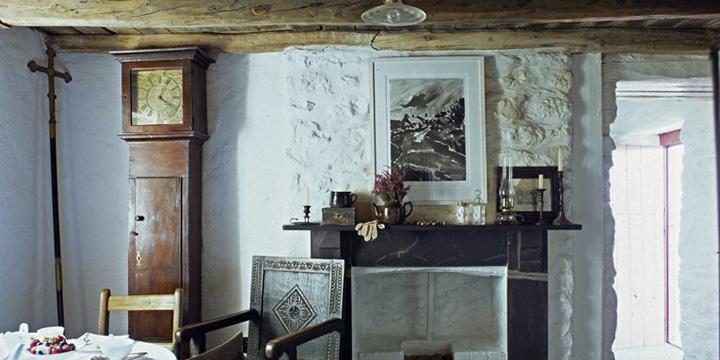 Impressive inglenook fireplace
