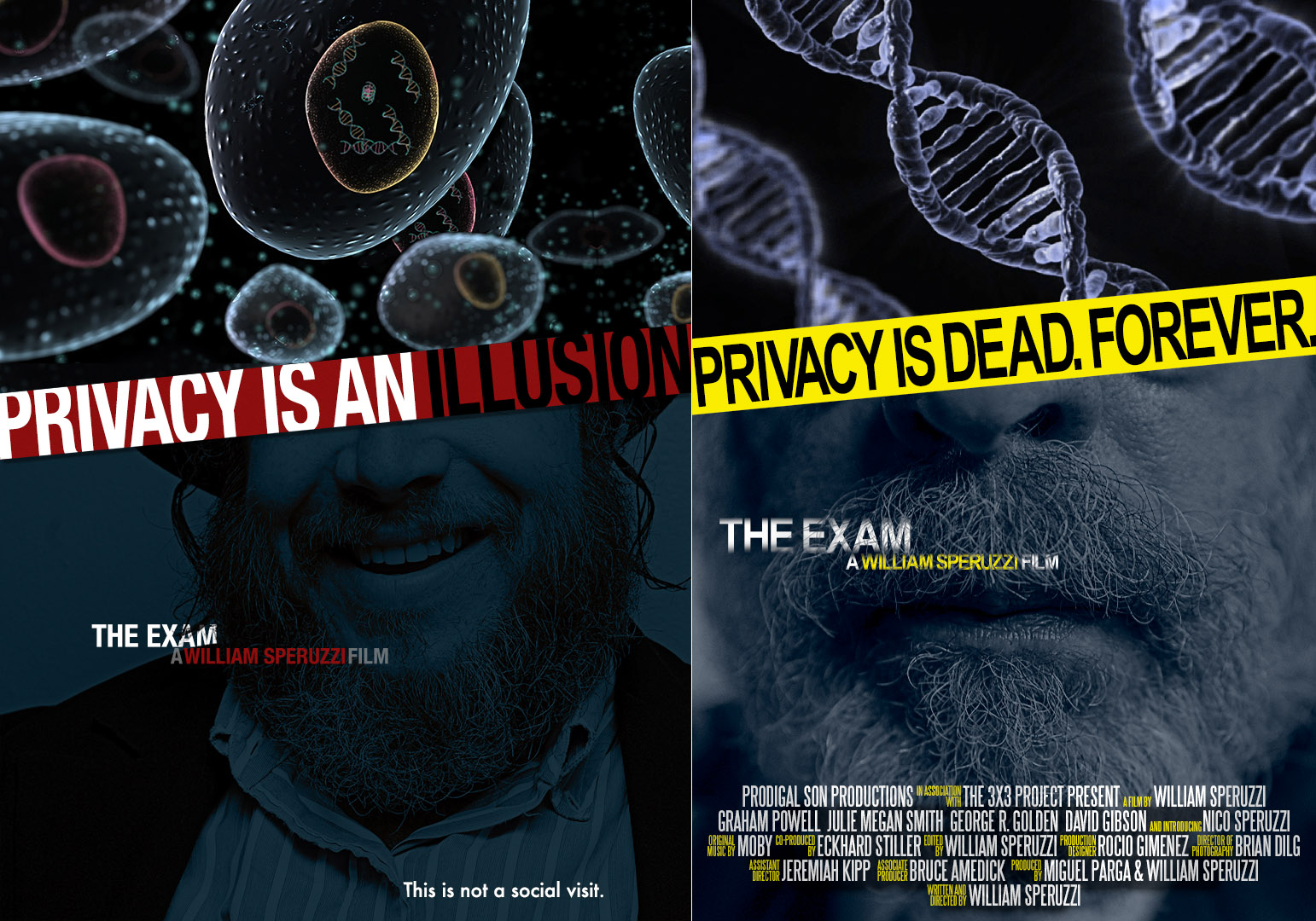 Comp and final poster designs for film (photography, design, & compositing)