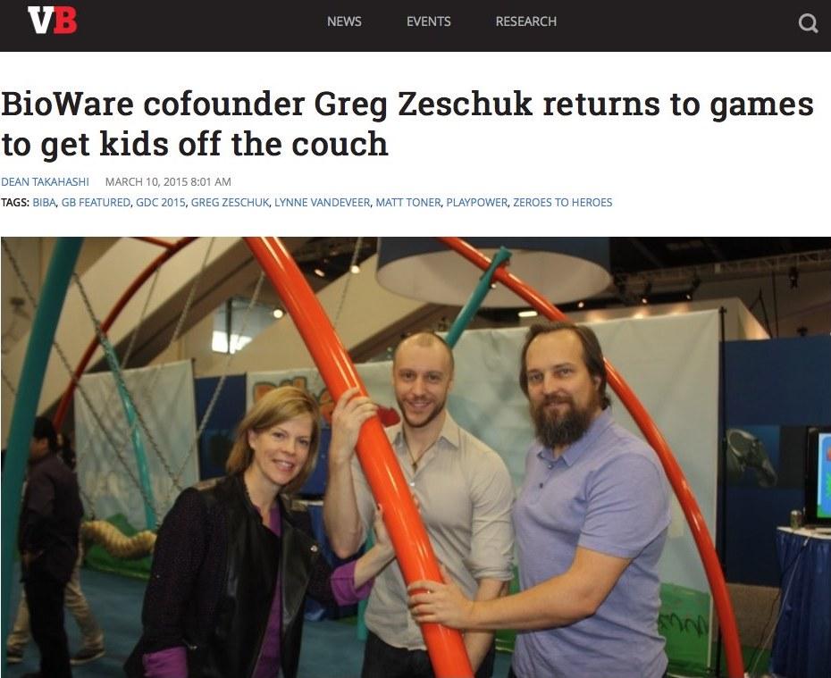 Announcement of Biba with Greg Zeschuk, GDC 2015