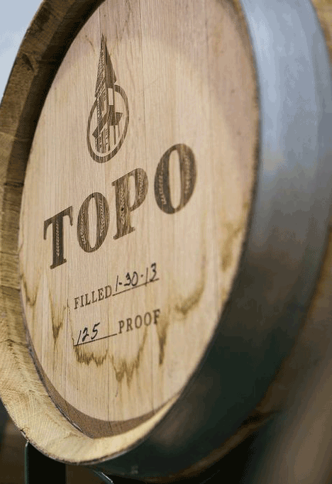 Look for TOPO Organic Aged Whiskey in just a few months. We'll be busy throughout the summer bottling our aged whiskey for the first time.