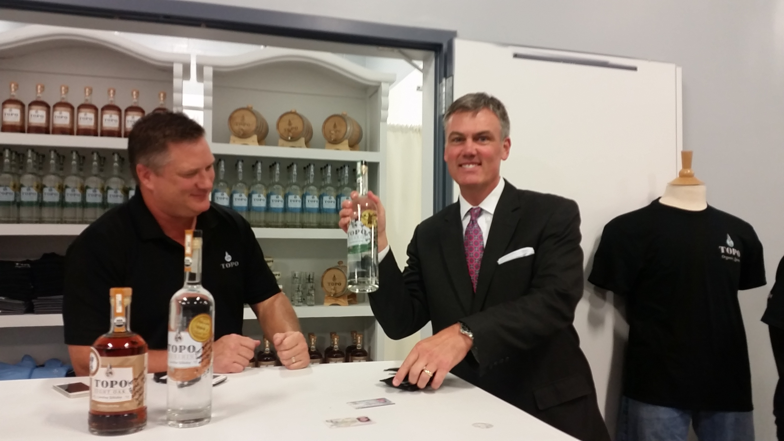 Patrick ballentine takes home the first nc gin sale