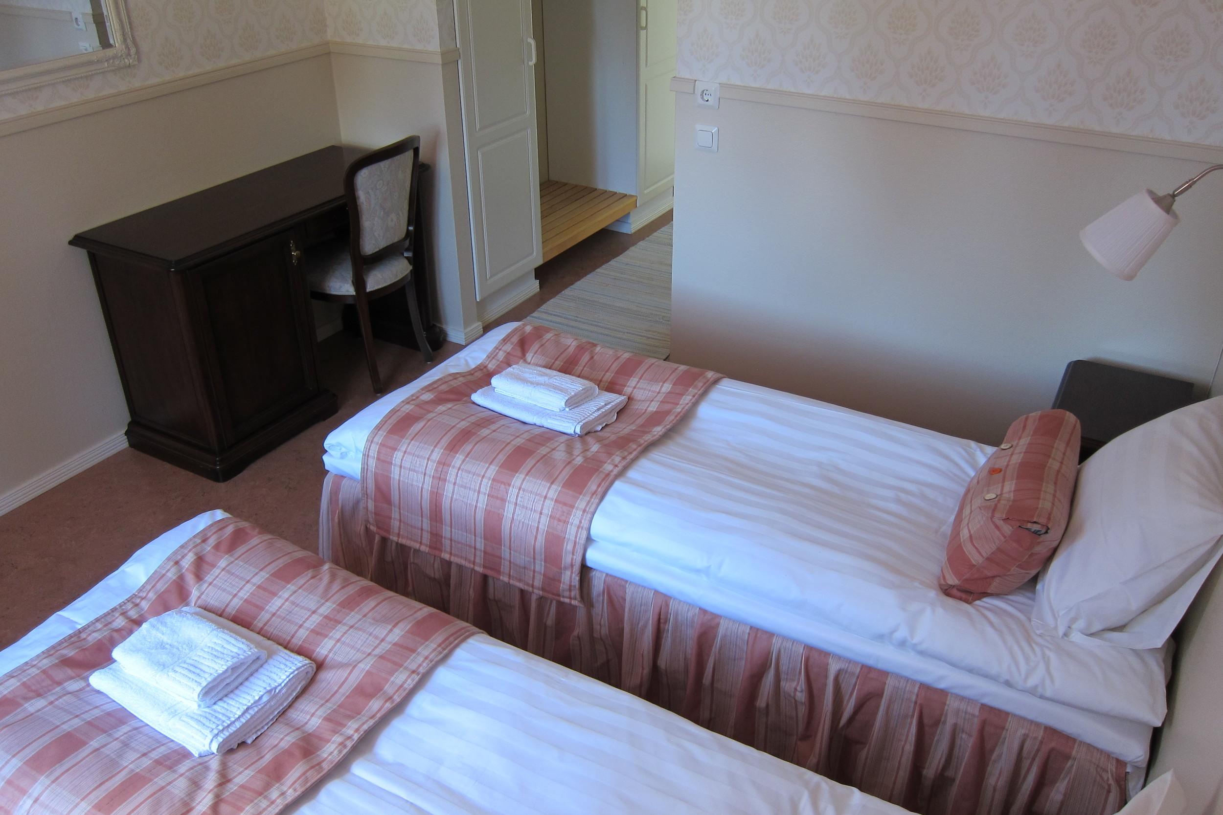Kahden hengen huone erillisillä vuoteilla