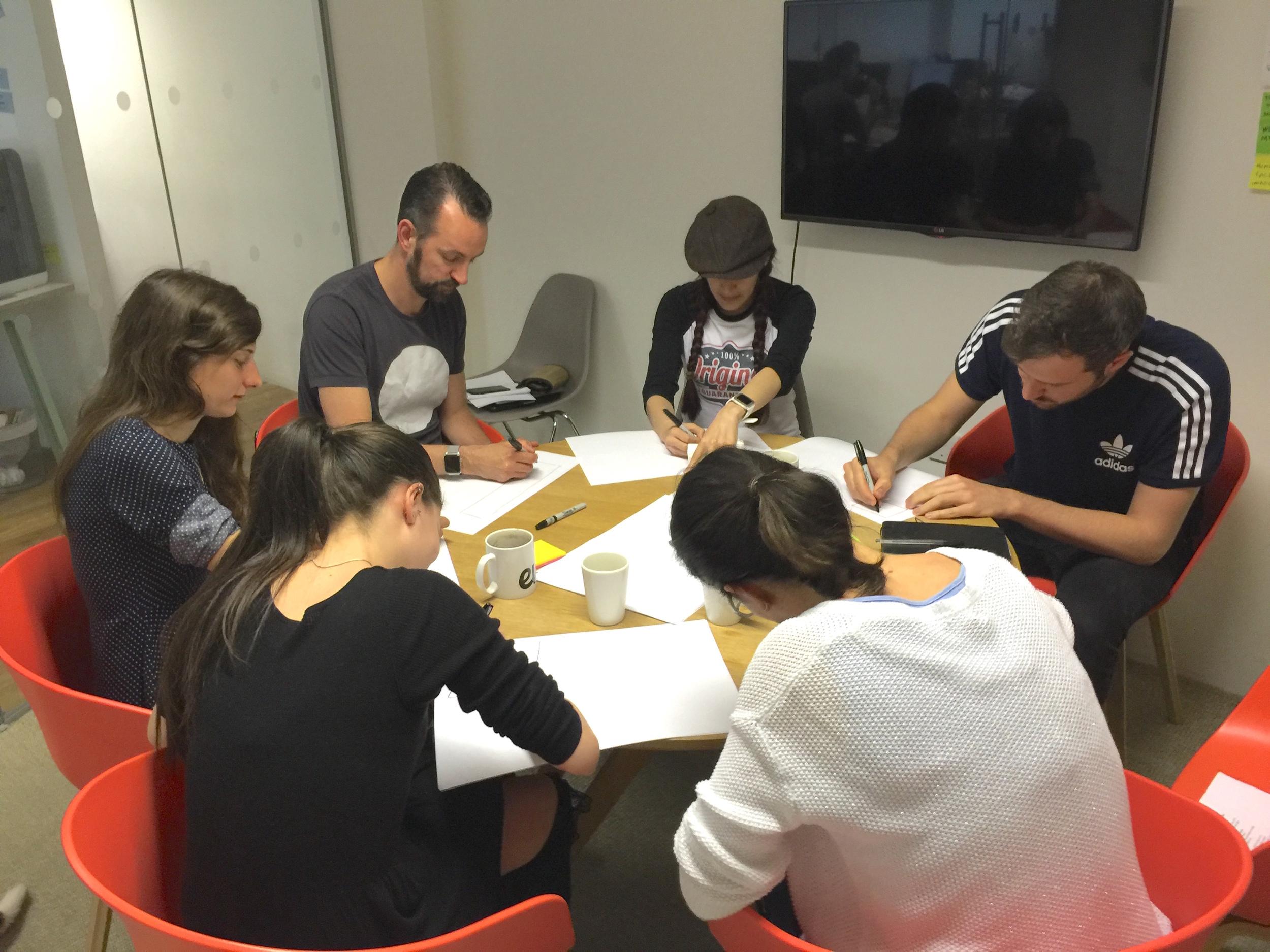 Design studio with NomNom stakeholders