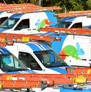 Google Fiber Trucks