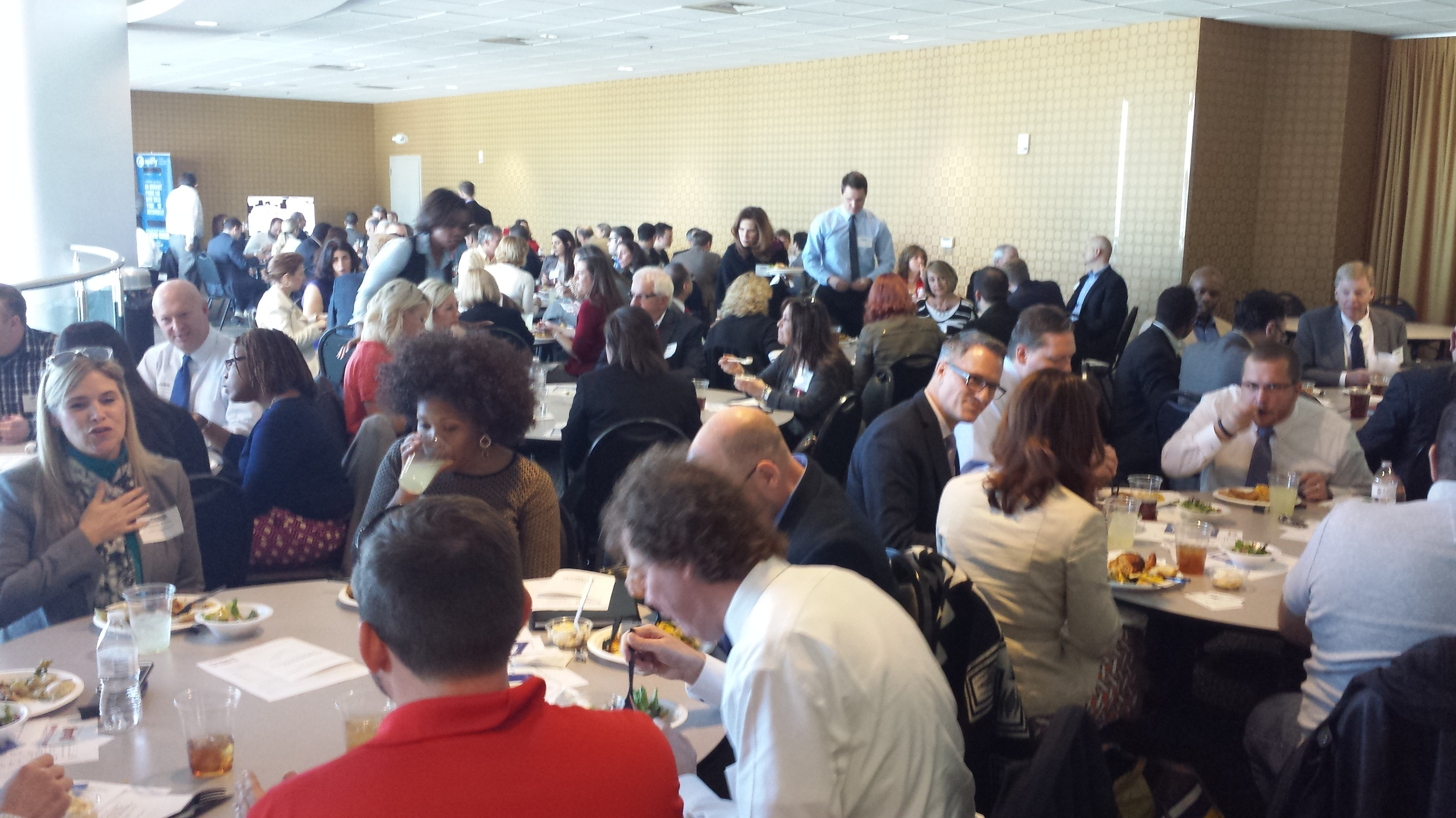 Photo of half of the room at the Chamber Lunch 'n Learn in Ballantyne.