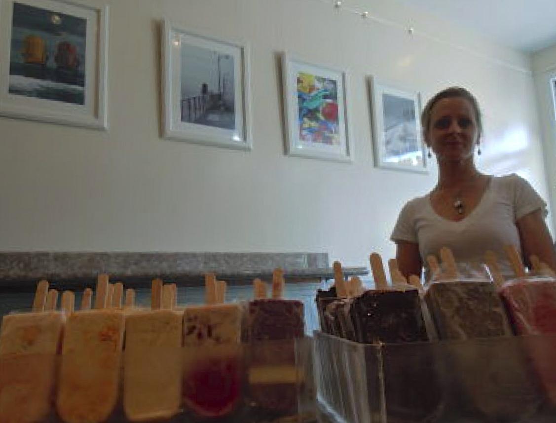 Photographers and artists displayed their work in Aline Strobl's Popztarz, an ice cream shop in the West End. (Photo: Joseph Kellard)