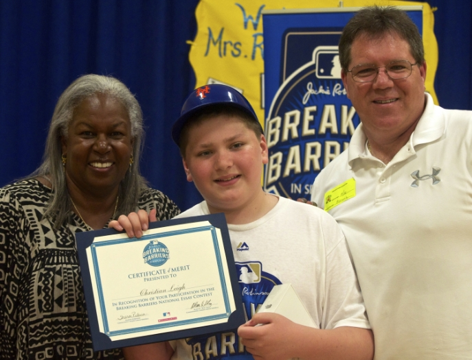 At the Terryville Elementary School in Port Jefferson Station on Thursday, a student asked Sharon Robinson, the daughter of trailblazing baseball hall of famer Jackie Robinson, what word best described her father.  READ MORE