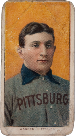 """The 1909 Honus Wagner is considered the """"Mona Lisa of baseball cards."""" (Credit: Wikicommons)"""