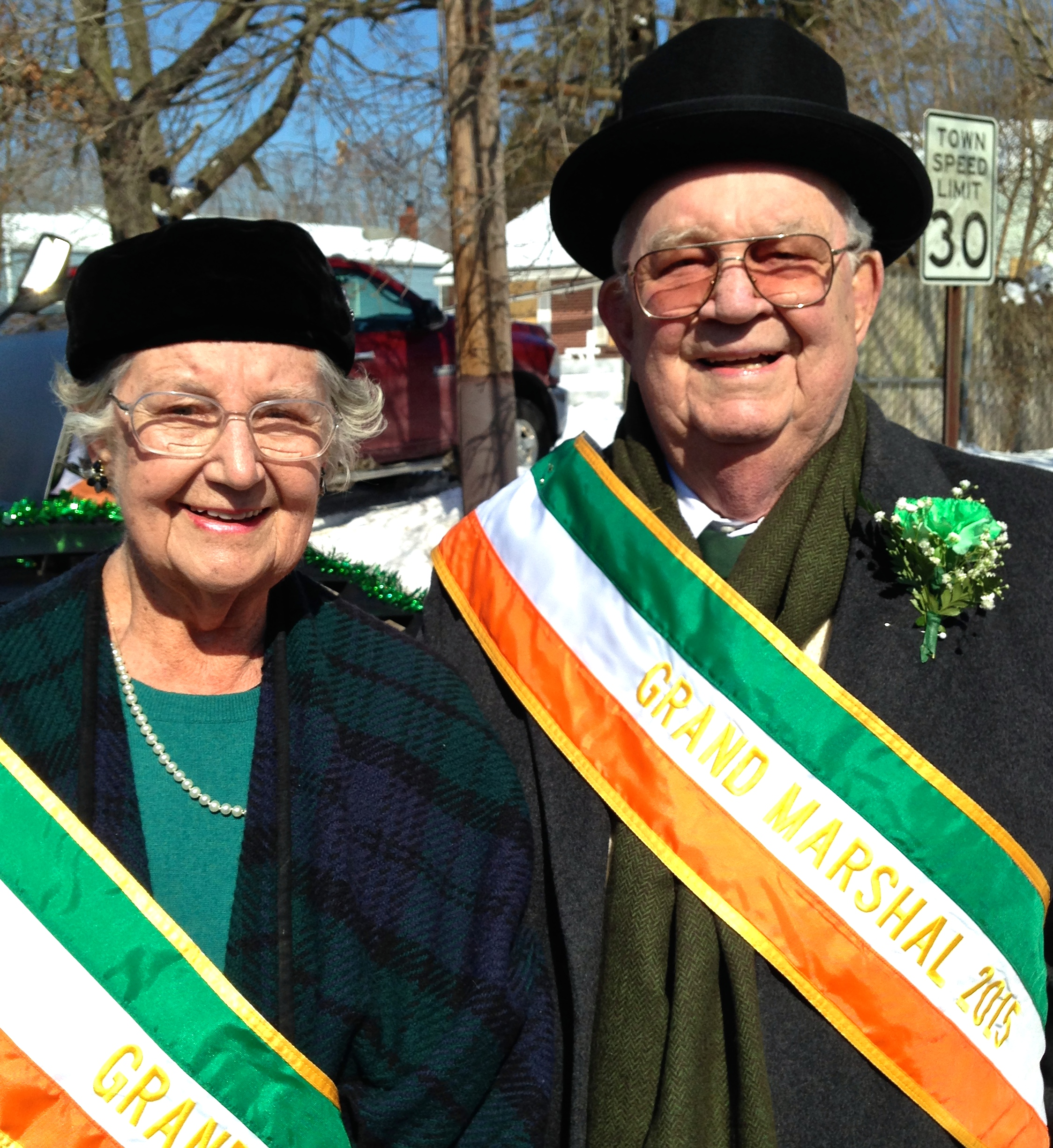 James Kirby, 87, and his sister Margaret Kirby Foley, 89, are co-grand marshals of the Kings Park St. Patrick's Day Parade on Saturday, March 7. (Photo:Joseph Kellard)