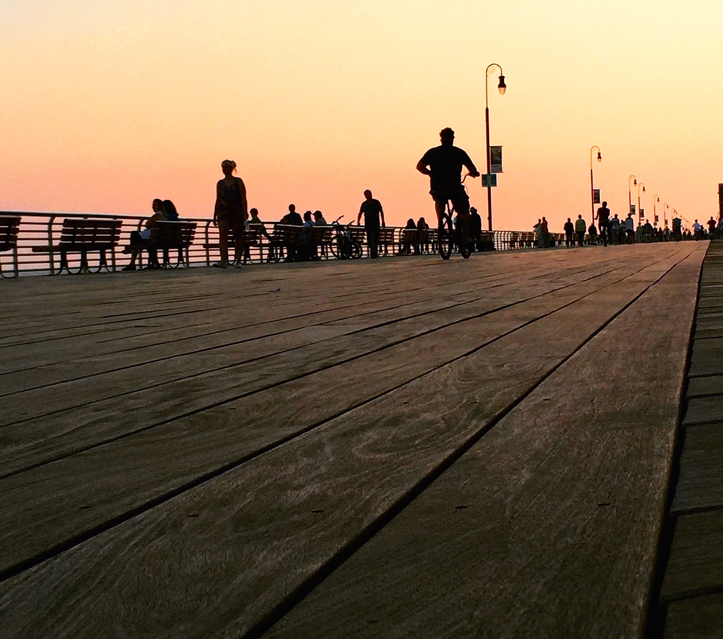 Dusk settles on the boardwalk in Long Beach, New York. (Photo: Joseph Kellard)