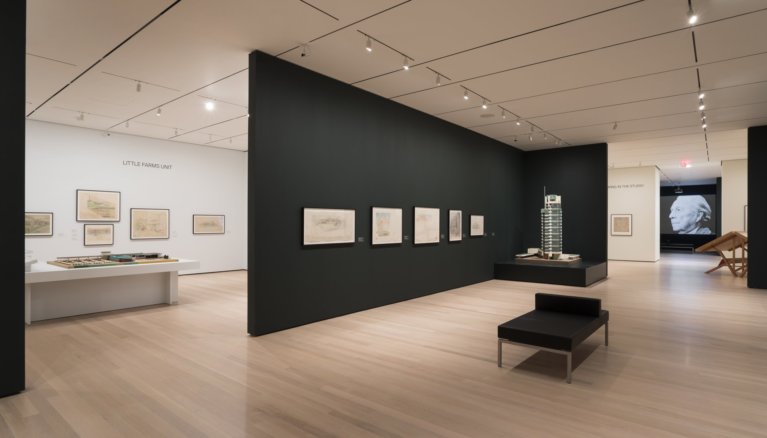 The Frank Lloyd Wright at 150: Unpacking the Archive exhibit at the Museum of Modern Art. image: The Frank Lloyd Wright Foundation Archives, The Museum of Modern Art, Avery Architectural & Fine Arts Library, Columbia University, New York