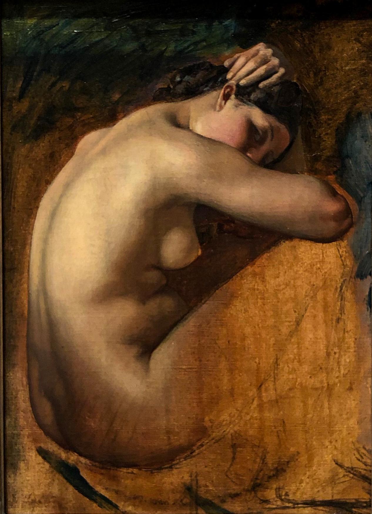 @ Female Nude, Study of_Henri Lehmann : (1840).jpg