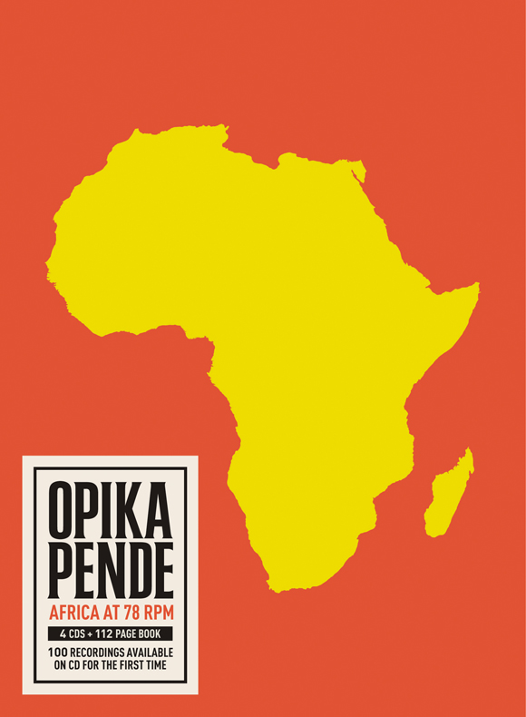 Opika Pende: Africa at 78 RPM  Release Date: October 25, 2011 Label: Dust-to-Digital  SERVICE: Restoration, Mastering SOURCE MATERIAL: 78 rpm records NUMBER OF DISCS: 4 GENRE: World FORMAT: CD