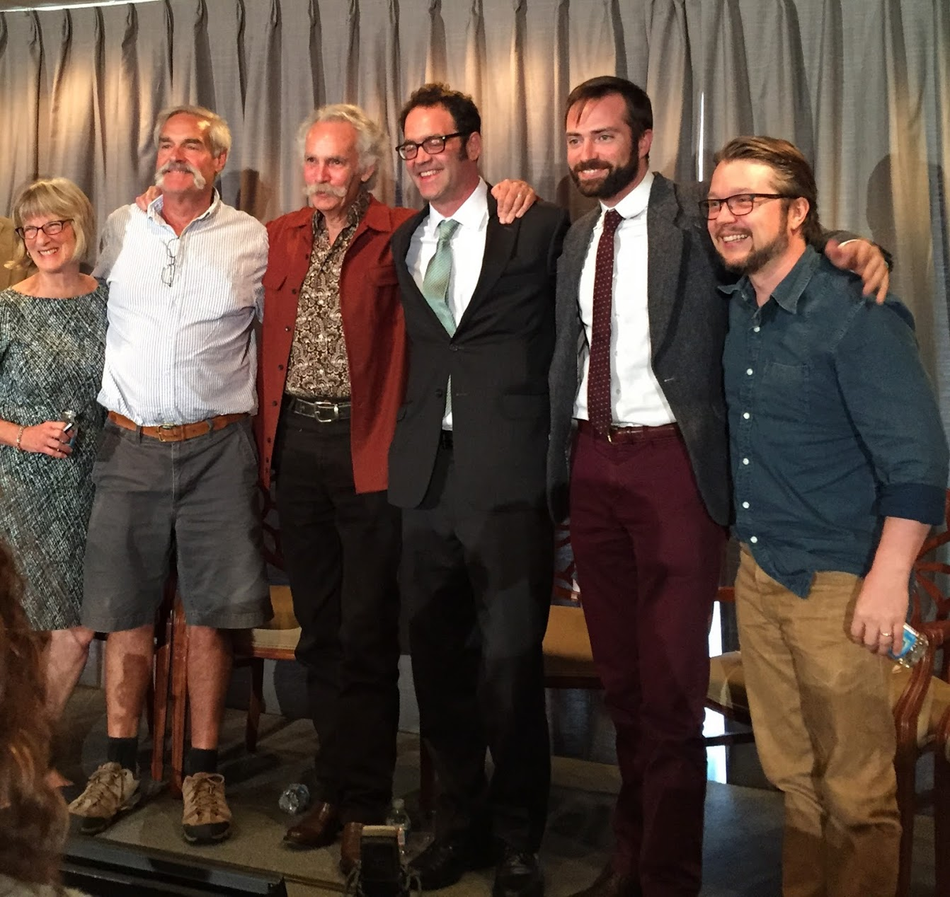 L-R:Betsy Peterson,   Hugh Campbell, Henry Glassie, Clifford R. Murphy, Douglas Peach, and Lance Ledbetter