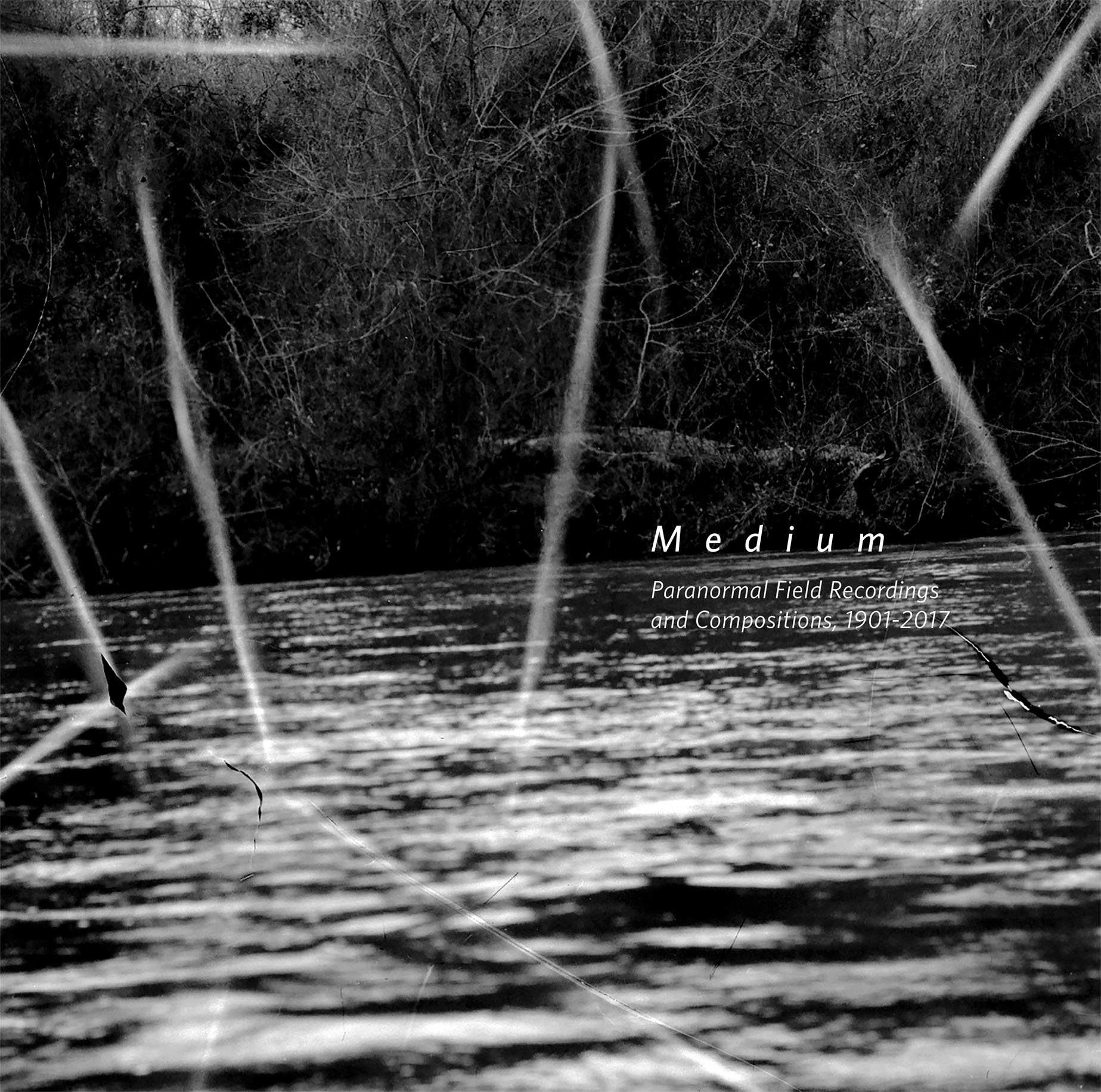 Medium: Paranormal Field Recordings and Compositions, 1901-2017  Release Date: September 29, 2017 For: Zuckerman Museum of Art,Kennesaw State University. Medium Special Exhibit:August 29 - December 3, 2017  SERVICE: Restoration, Mastering NUMBER OF DISCS: 1 GENRE: Paranormal FORMAT: LP