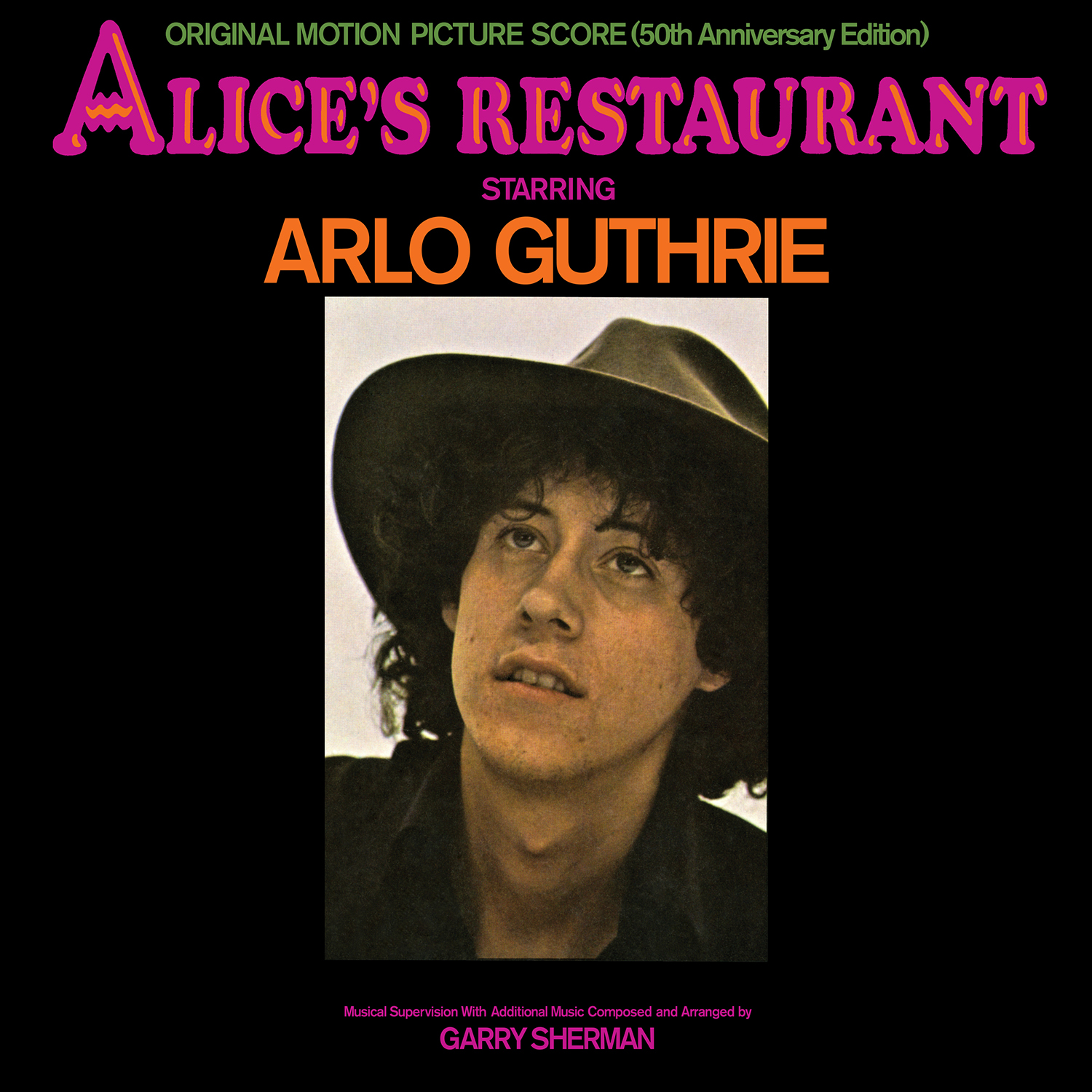 Arlo Guthrie - Alice's Restaurant: Original MGM Motion Picture Soundtrack (50th Anniversary Edition)  Release Date: August 23, 2019 Label: Omnivore Recordings  SERVICE: Mastering, Restoration NUMBER OF DISCS: 1 GENRE: Folk FORMAT: CD
